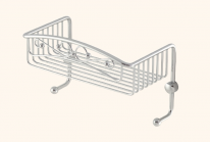 Полка-решетка с крючками Migliore Complementi ML.COMCR-50.601CR - хром