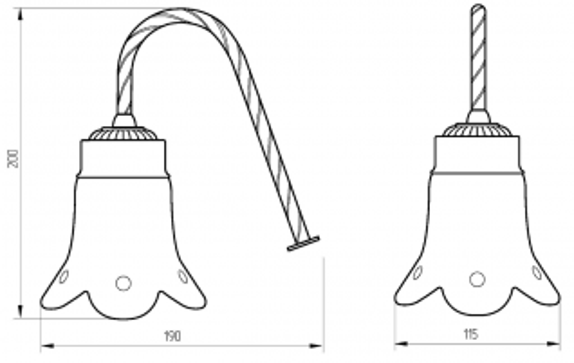 Светильник Migliore Edera ML.EDR-60.331.DO - золото