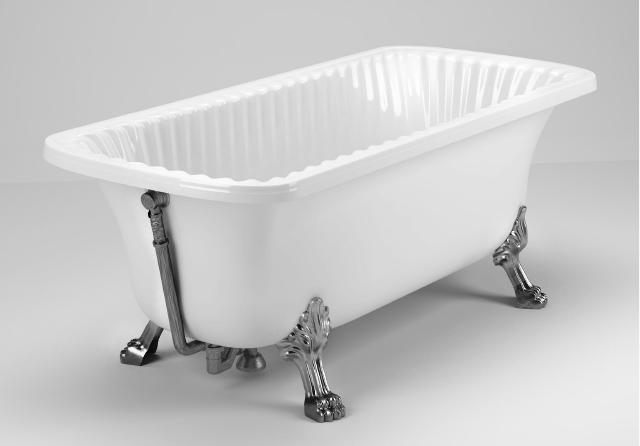 Ванна из литьевого мрамора Migliore Olivia ML.OLV-40.103.CR, фурнитура хром