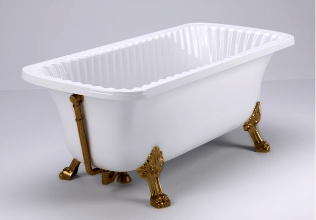 Ванна из литьевого мрамора Migliore Olivia ML.OLV-40.103.BR, фурнитура бронза