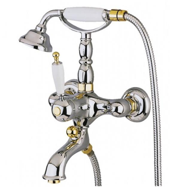 Смеситель Migliore Oxford ML.OXF-6302.CRDO для ванны/душа - хром/золото
