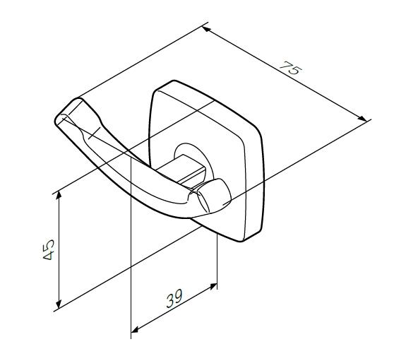 Крючок для полотенец Am.Pm Gem A9035600 двойной