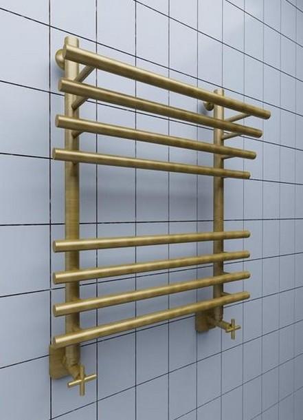 Полотенцесушитель водяной Ника Bamboo ЛБ3 6-Br, 60 x 40 см цвет бронза