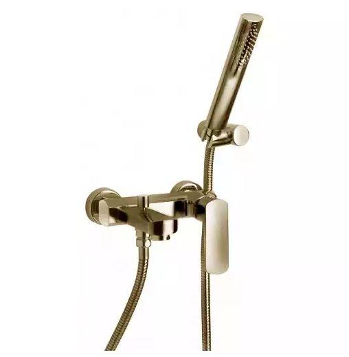 Смеситель Paini Ovo 86PW105 для ванны и душа с душевым гарнитуром, никель PVD