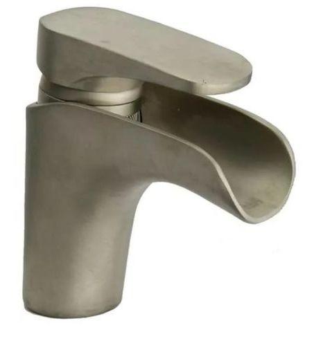 """Смеситель Paini Ovo 86PA211WF для раковины с донным клапаном 1""""1/4, каскадный излив, сталь PVD"""