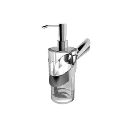 Дозатор для жидкого мыла с держателем Paini Morgana 73CR031BI