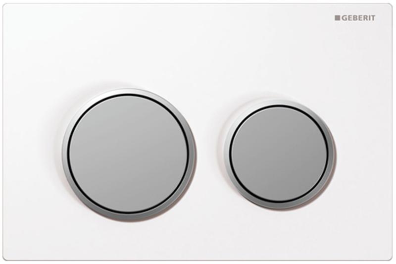 Кнопка Geberit 115.085.KL.1, белая, матовый хром