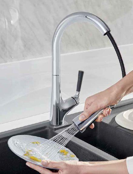 Смеситель Jacob Delafon Malleco E562-CP для кухонной мойки, с выдвижным изливом, хром