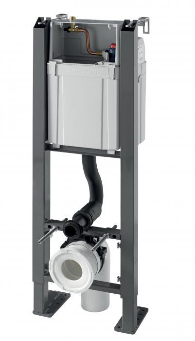 Инсталляция самонесущая Wirquin Crono 50975049 для подвесного унитаза c клавишей смыва серии Essentiel матовой хромированной