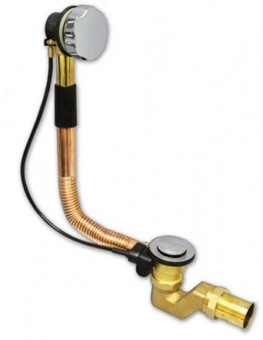 Слив-перелив Wirquin 30719248 медно-латунный полуавтомат, регулируемый перелив L450-700 мм