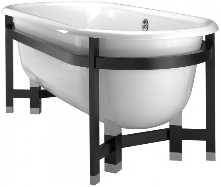 Ванна чугунная Jacob Delafon CLEO TELLIEUR E2945-00, 175х80 см на раме из массива бука