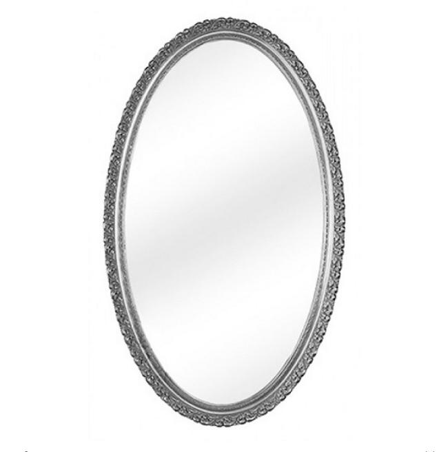 Зеркало Migliore Complementi арт.ML.COM-70.510.AG овальное h118*L70*P5 см, серебро