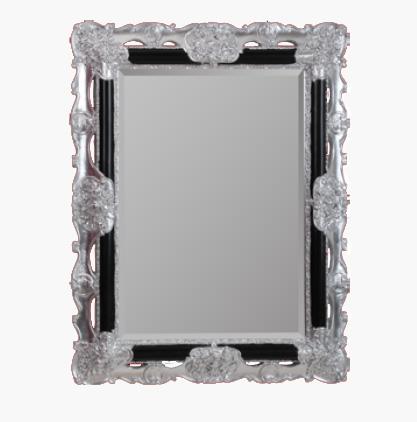 Зеркало прямоугольное Migliore Complementi арт.ML.COM-70.508, черное/ серебро