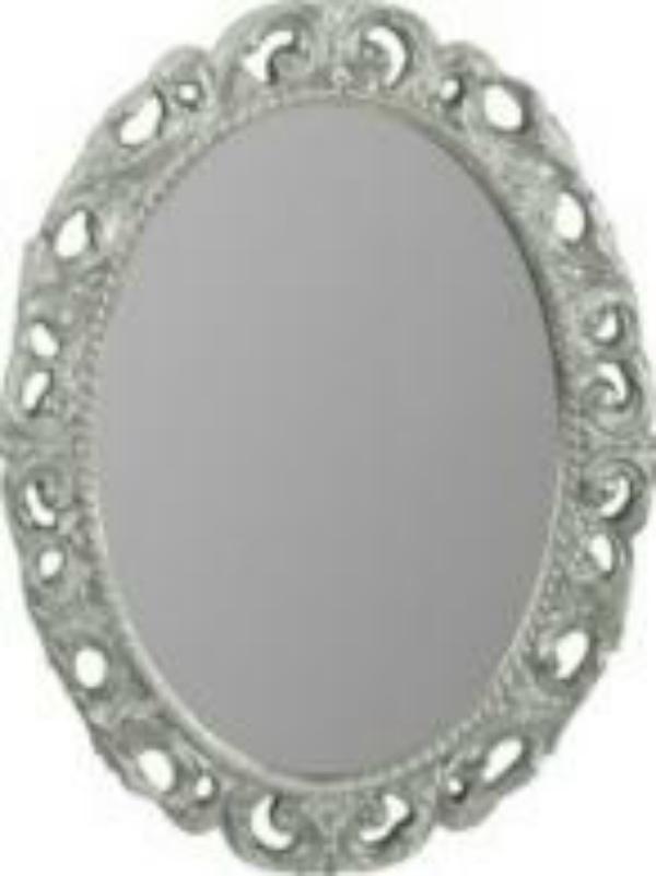 Зеркало овальное Migliore Complementi арт.ML.COM-70.724, h70xL89xP3,5 cm, серебро