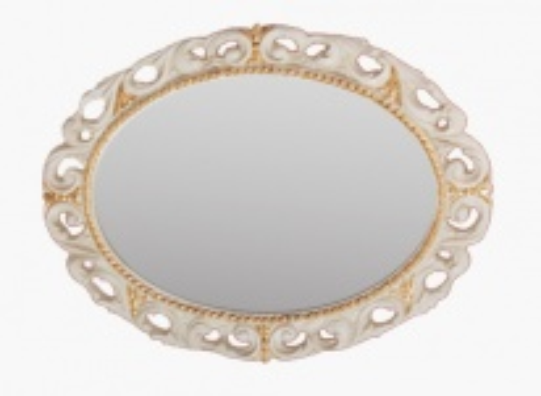 Зеркало овальное Migliore Complementi арт.ML.COM-70.724, h70xL89xP3,5 cm, белое золото
