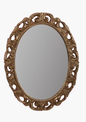 Зеркало овальное Migliore Complementi арт.ML.COM-70.724, h70xL89xP3,5 cm, бронза