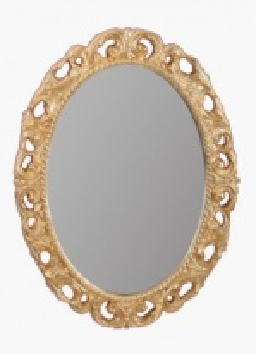 Зеркало овальное Migliore Complementi арт.ML.COM-70.724, h70xL89xP3,5 cm, золото