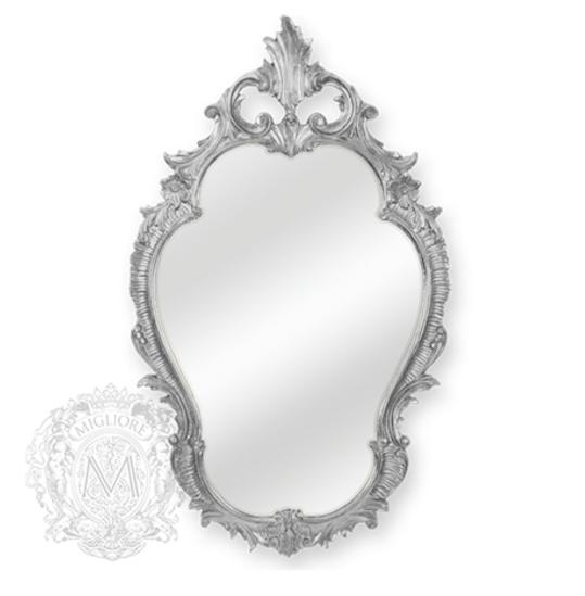 Зеркало фигурное Migliore Complementi арт.ML.COM-70.725, h98*L58*P4 см, серебро