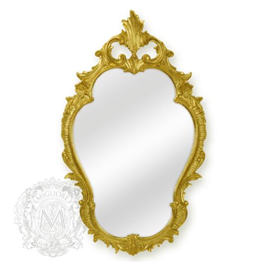Зеркало фигурное Migliore Complementi арт.ML.COM-70.725, h98*L58*P4 см, золото