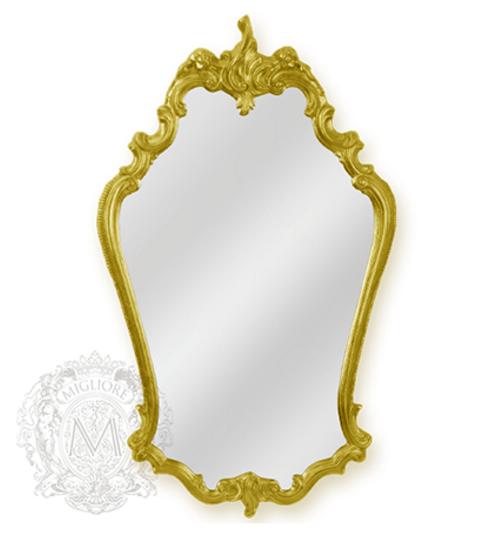 Зеркало фигурное Migliore арт.ML.COM-70.722, h95*L57*P5 см, золото