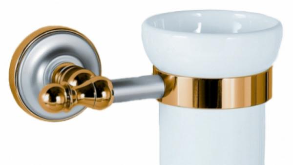 Стакан для щеток Migliore Mirella ML.MRL-4410.DO.CR - хром/золото