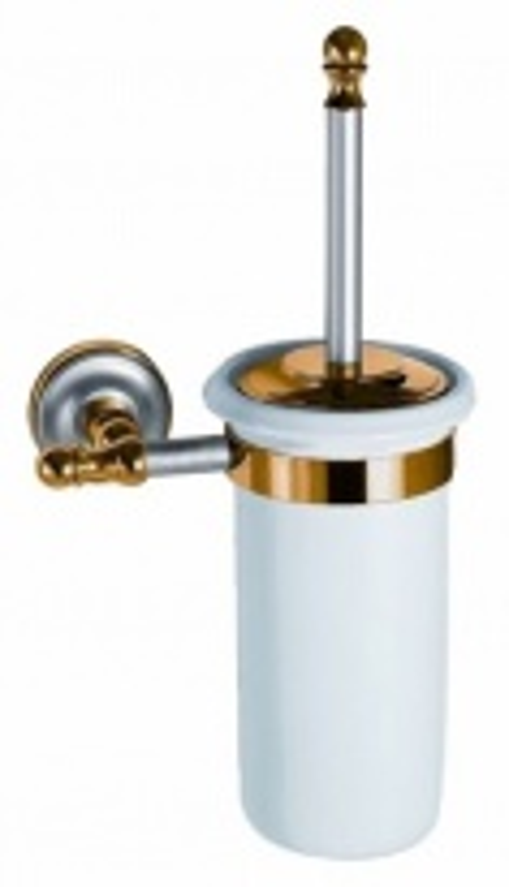 Ершик для туалета Migliore Mirella ML.MRL-M065CRDO - хром/золото