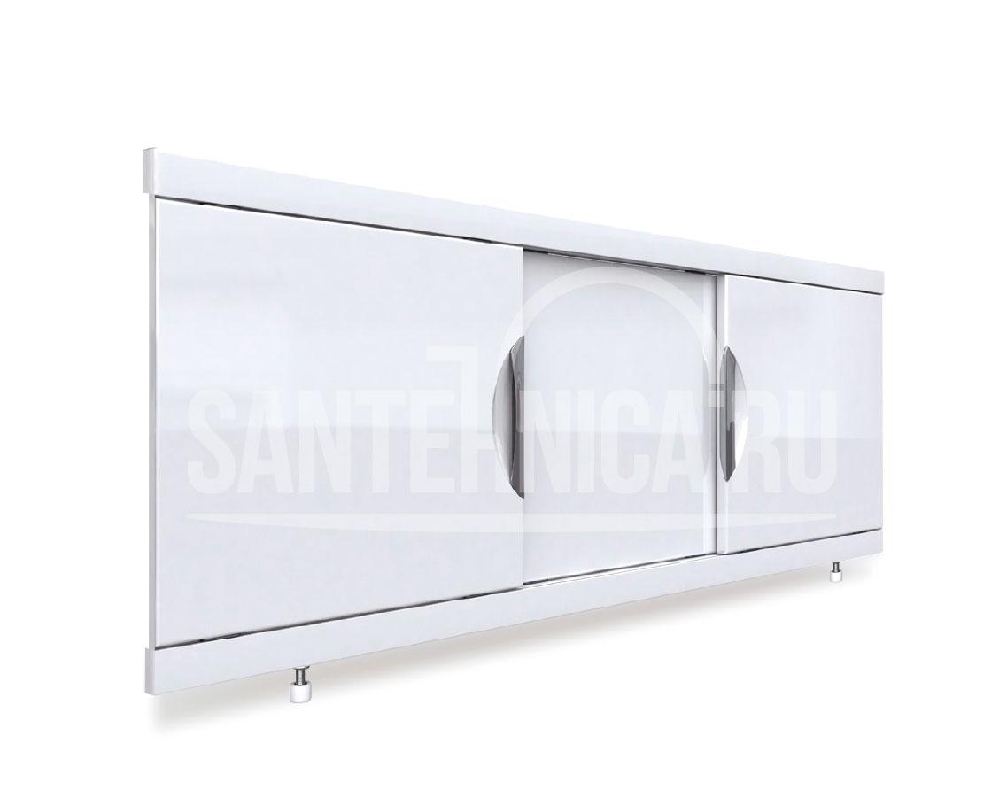 Экран под ванну Emmy Валенсия 160, подрезной, белый