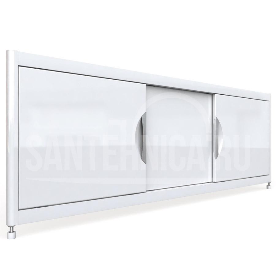 Экран под ванну Emmy Малибу mlb1252bel, цвет - белый, 120*52 см