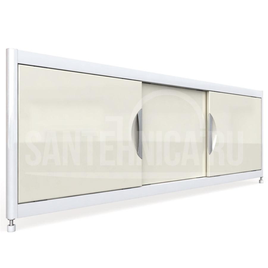 Экран под ванну Emmy Малибу mlb1652bej, цвет - бежевый, 160*52 см