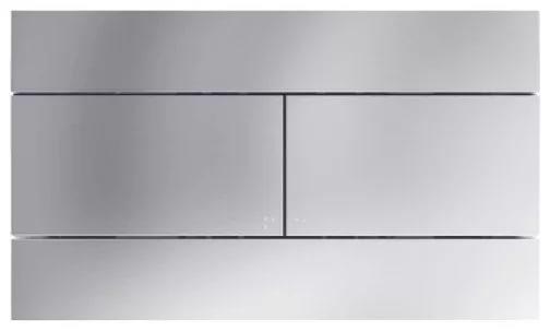 Кнопка смыва Jacob Delafon E4316-38R двойная цвет матовый велюр (супер сталь)