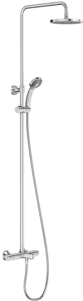 Душевая колонна Jacob Delafon July E99741-CP, с термостатическим смесителем,  верхний душ круглый