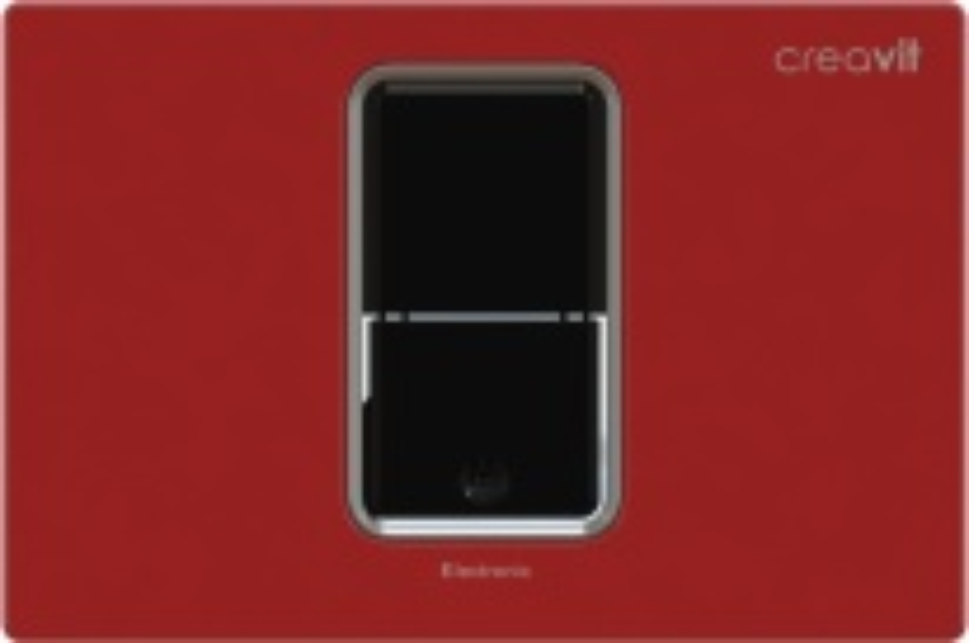Кнопка смыва Creavit FP8001.01 сенсорная, красная