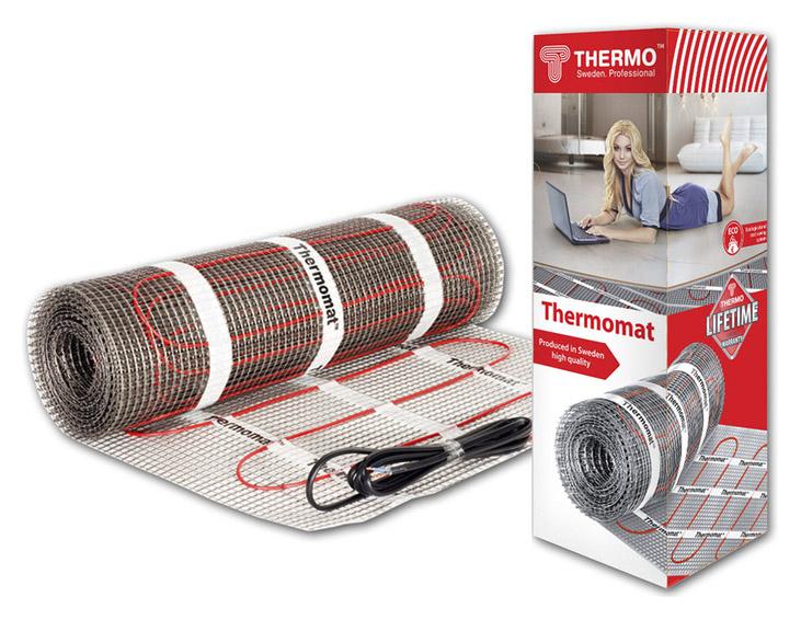 Теплый пол Thermo Thermomat TVK-130/1,5: площадь обогрева 1.5 кв.м., мощность 190 Вт