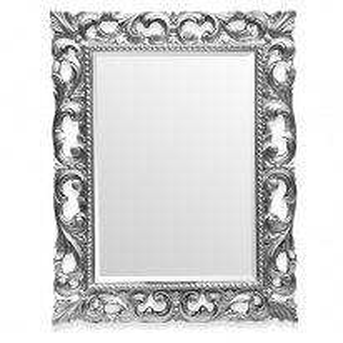 Зеркало Tiffany World TW03427arg.brillante в раме 75*95 см, глянцевое серебро