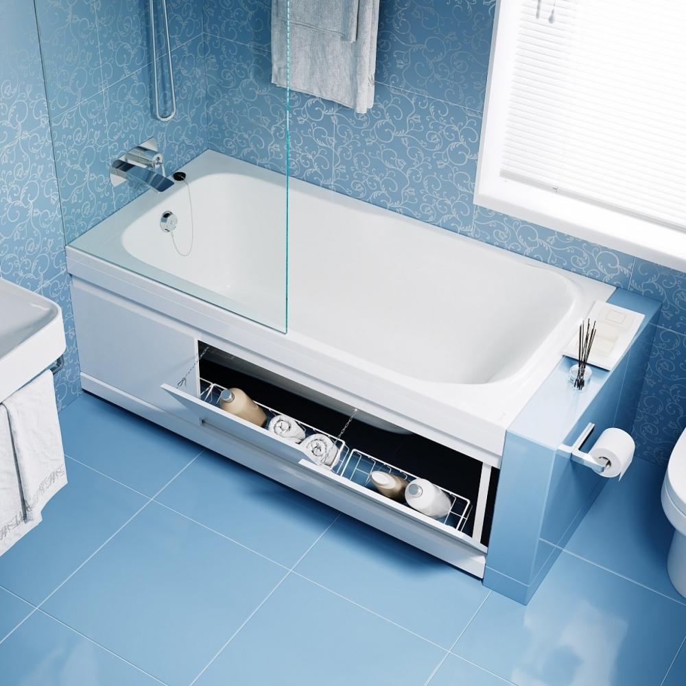 Экран для ванны Alavann МДФ Soft 150 см, белый