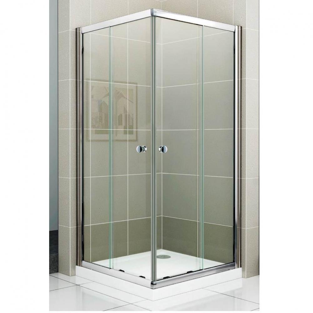 Душевой уголок Cezares PRATICO-GL-A-2-80-C-Cr, 80 х 80 х 180, стекло прозрачное