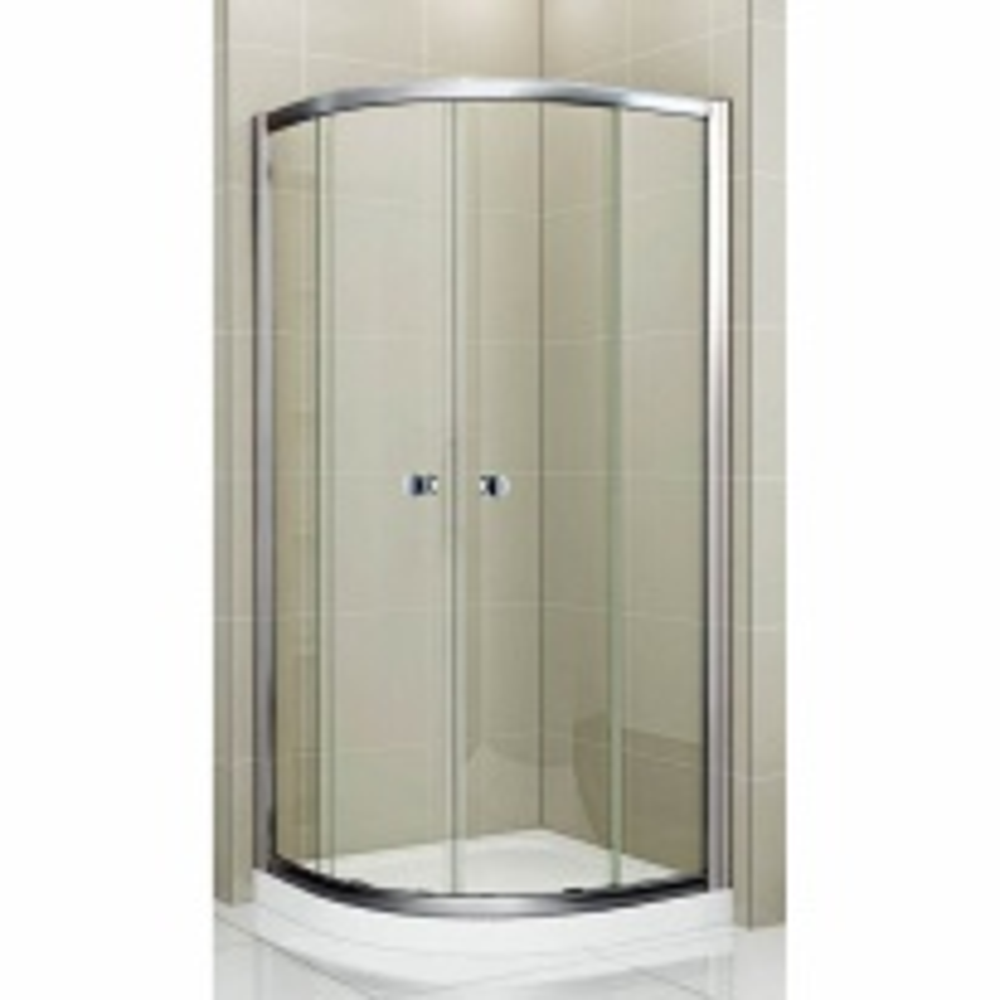Душевой уголок Cezares PRATICO-GL-R-2-80-C-Cr  80 х 80 х 180 см, стекло прозрачное