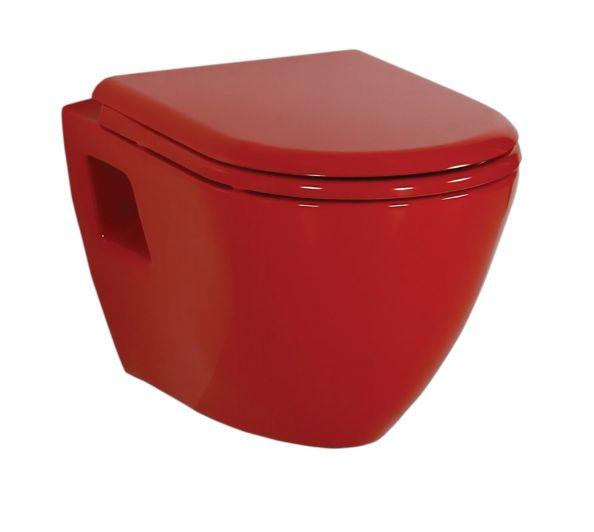 Унитаз Creavit Single TP325.A01 (TP325.A0100), подвесной, цвет - красный