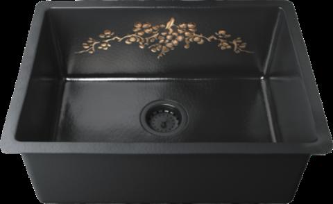 Мойка кухонная Omoikiri Arakawa 59-CO натуральная медь, черный 4993271