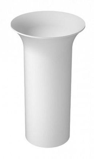 Раковина Aquanet Entice V22 198989, 48*48*86 см напольная, цвет белый глянцевый