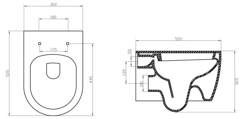 Унитаз подвесной BelBagno Marino BB105CHR безободковый