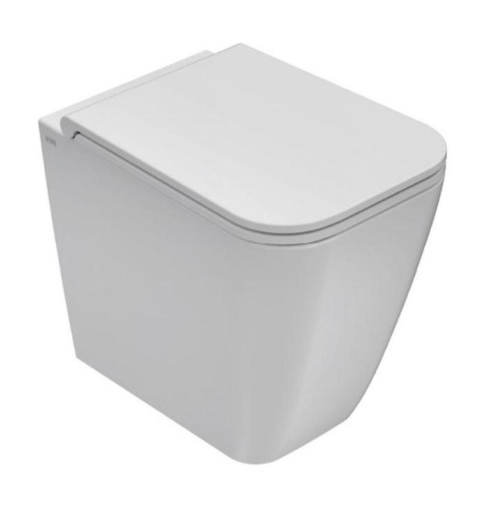 Унитаз Globo Stone ST002.BI 36*52 см напольный с системой скрытого крепежа, цвет белый