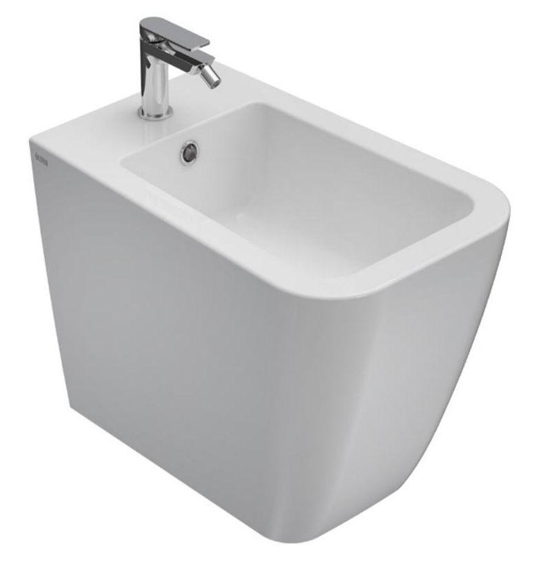 Биде Globo Stone ST009.BI*1 36*56 см напольное с системой скрытого крепежа, цвет белый