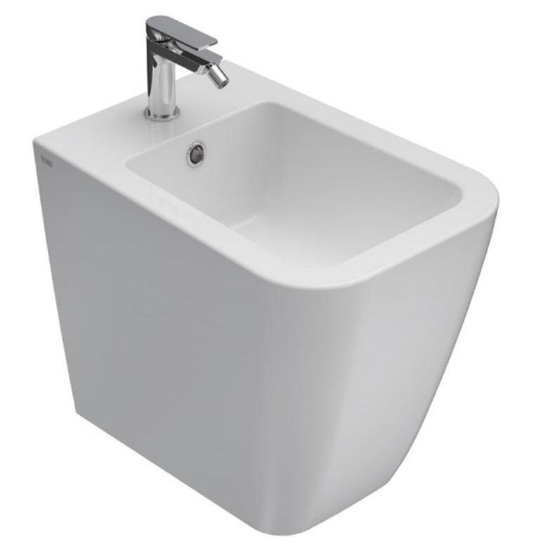 Биде Globo Stone ST010.BI*1 36*52 см напольное с системой скрытого крепежа, цвет белый