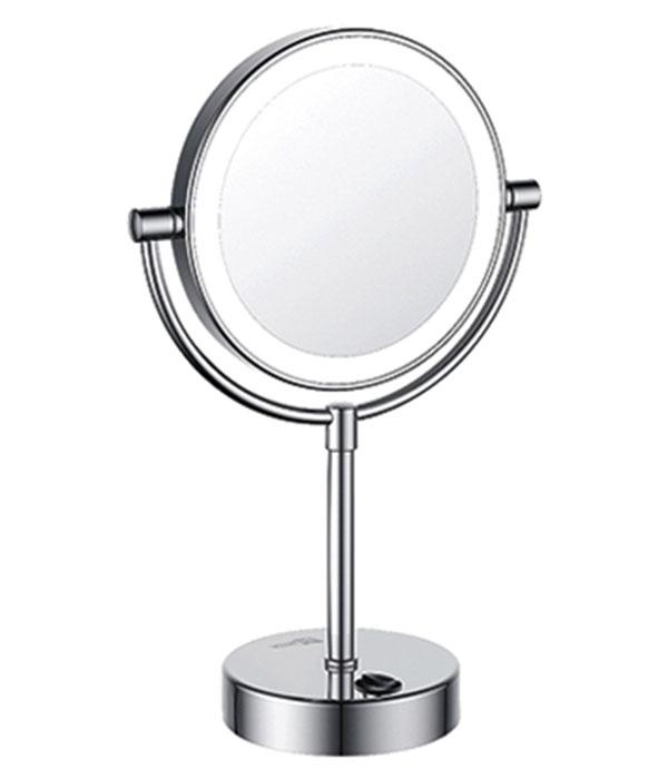 Зеркало WasserKRAFT K-1005 двустороннее, стандартное и с 3-х кратным увеличением, с Led-подсветкой