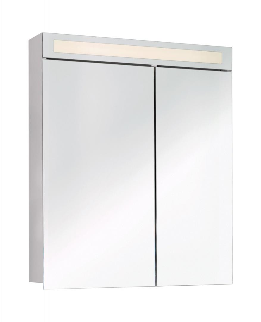 Зеркальный шкаф Dreja Uni 70, 2 дв (40/30), подсветка с выкл