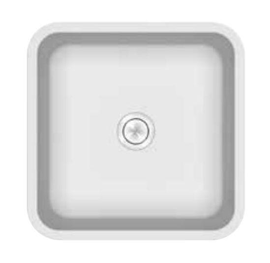 Раковина Kerrock Ofelia-UN 40*40*15 см врезная, цвет белый