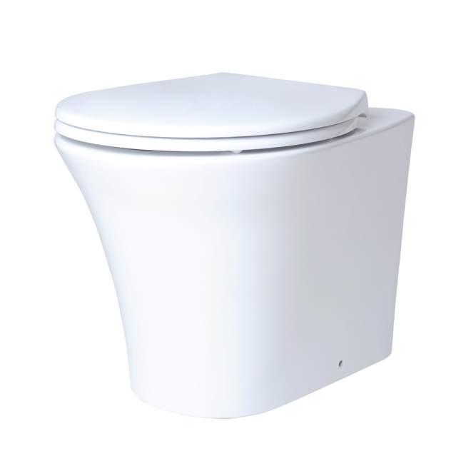 Унитаз пристенный Creo Ceramique Paris PA1200, с сиденьем PA1001