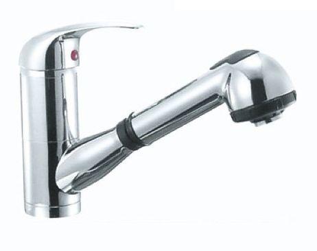 Смеситель Aqualux Orion SH-2000 для кухонной мойки, с выдвижным изливом