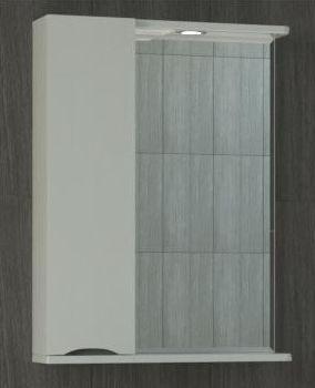 Зеркало-шкаф Vigo Minor 50, №108-500-Л, с подсветкой, шкаф слева